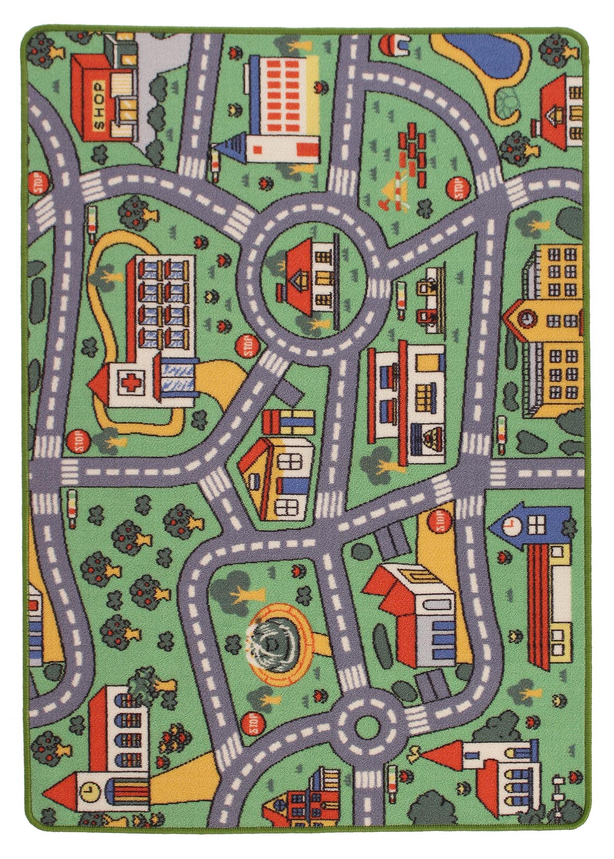 Roads Kids Playmat Rug Rugspot