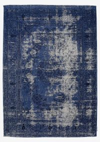 Cape 550 Blue Modern Synthetic Rug