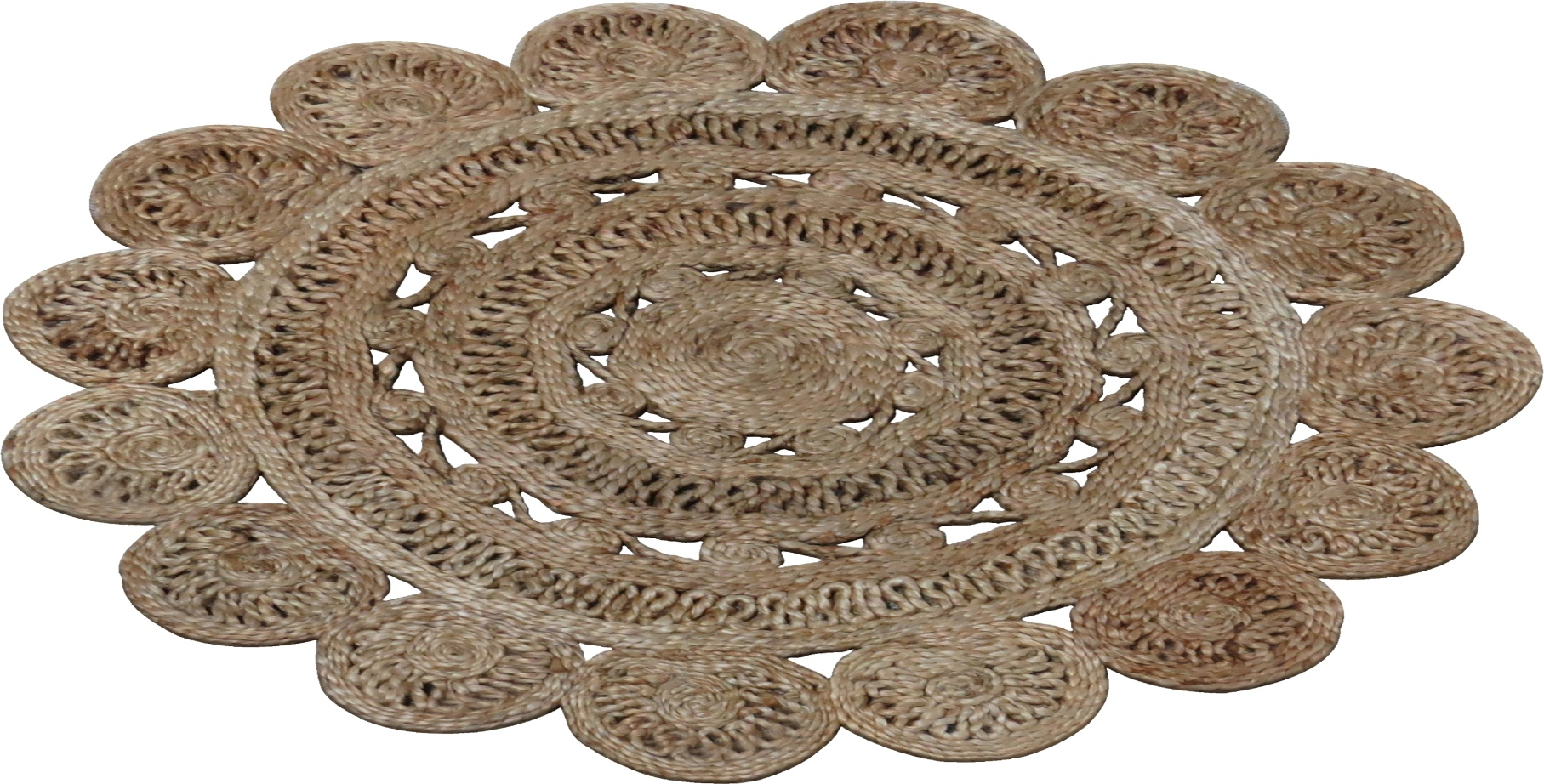 Buy jute rugs centro jute round rug rugspot for Where to buy round rugs
