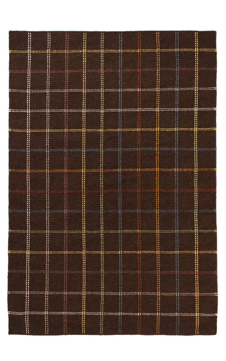 Cora Brown Modern Wool Rug