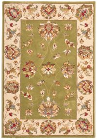 Majesty 255 Green Traditional Rug