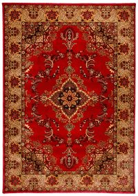 Majesty 443 Red Traditional Rug