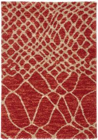 Marrakesh 70 Red Modern Rug