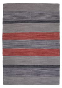 Oxford 797 Grey-Red Modern Cotton Rug