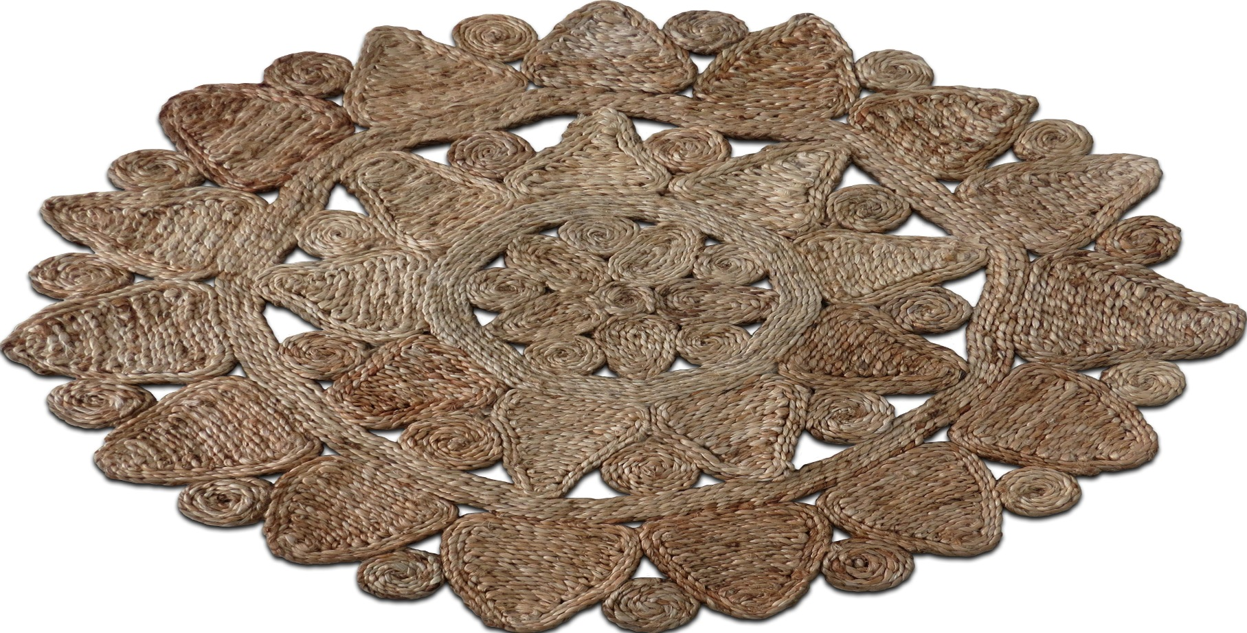 Buy jute rugs star jute round rug rugspot for Where to buy round rugs